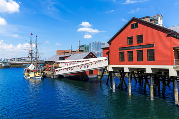 Boston Tea Party in Massachusetts
