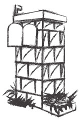 Brickwall Letterbox Sketch
