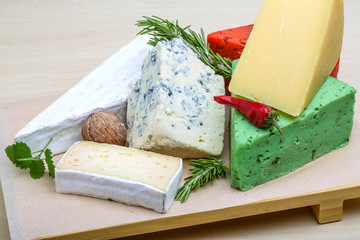 Assortment cheese