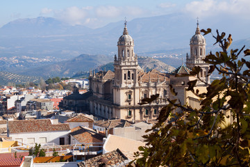 View of Jaen with Cathedral