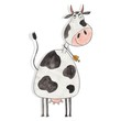 Cow. Cartoon character over white