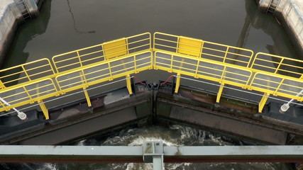 Sluice gate - view from above