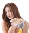 Junge Frau mit Geldscheinen