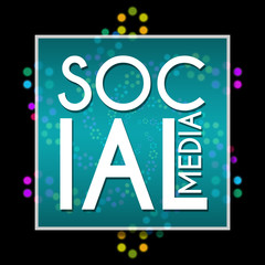 Social Media Black Colorful Element