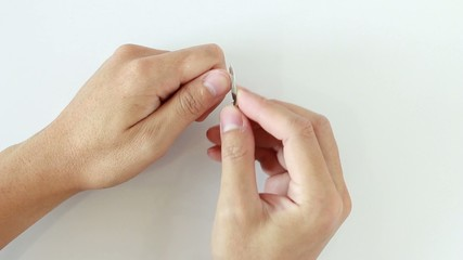 Cutting nails with nail clippers