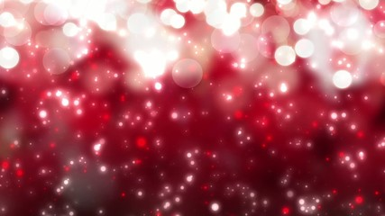 christmas red background with white bokeh snow holiday