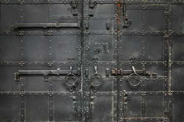 ancient metal black gate