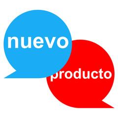 Icono texto nuevo producto