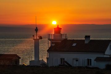 Sonnenaufgang beim Leuchtturm