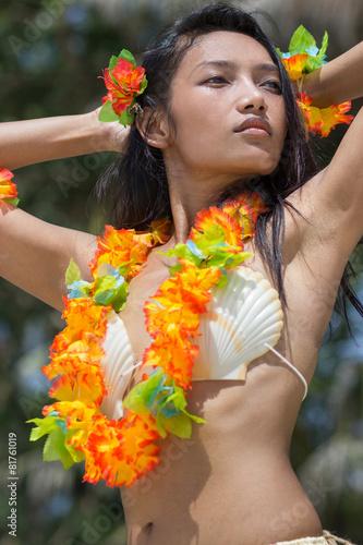 obraz lub plakat Hawaje hula tancerz