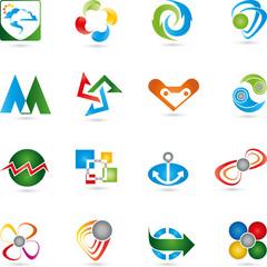 Logos Sammlung, Icon, Vektor, 3D