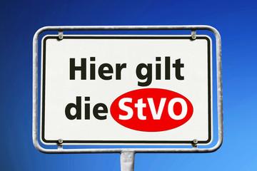 Schild, Hier gilt die StVO
