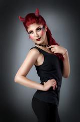 Sexy devil woman