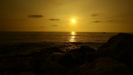 Sunset on mediterranean sea, Lebanon