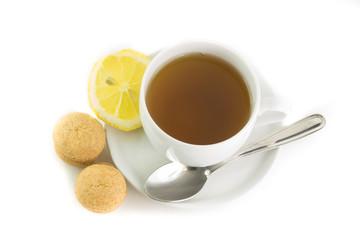 Tazza di tè con biscottini