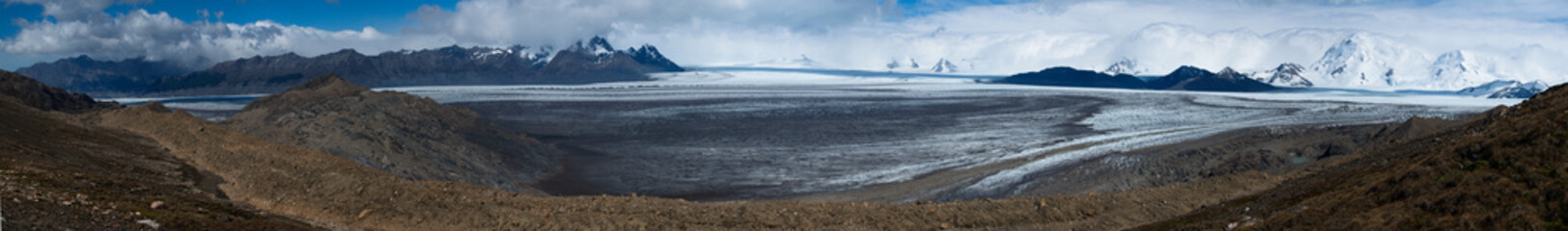 Long Patagonian panorama in the south of Argentina