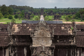 The walkway to Angkor Wat Temple, Cambodia