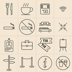 Exhibition Line Icons Set-02