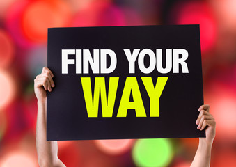 Find Your Way card with bokeh background