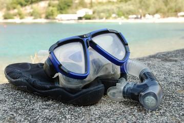 Snorkel and mask, Meganissi island