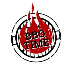 Stempel BBQ Zeit