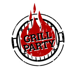Stempel Grillparty Feuer