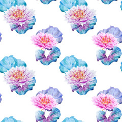 Lotus flowers pattern