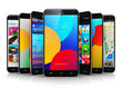 Collection of modern touchscreen smartphones - 81764888