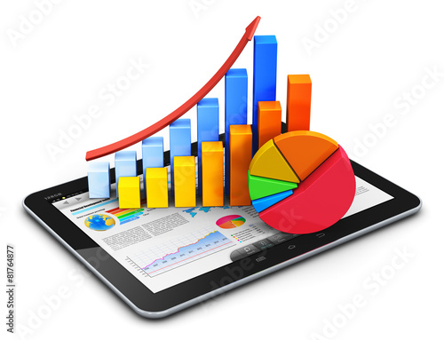 Mobile finance, accounting and statistics concept - 81764877