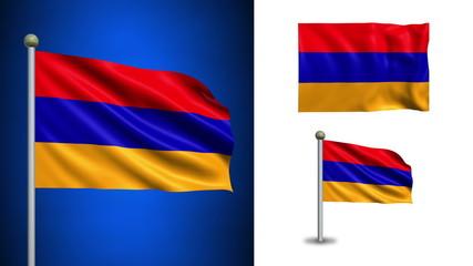 Armenia flag - with Alpha channel, seamless loop!
