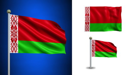 Belarus flag - with Alpha channel, seamless loop!