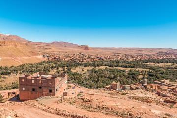 Valley of Roses Village in Morocco Desert