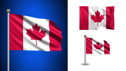 Canada flag - with Alpha channel, seamless loop!