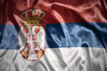 shining serbian flag