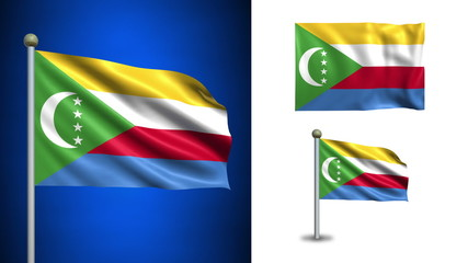 Comoros flag - with Alpha channel, seamless loop!