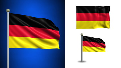 Germany flag - with Alpha channel, seamless loop!