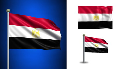 Egypt flag - with Alpha channel, seamless loop!