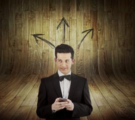 GPS concepto búsqueda con el móvil