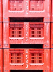 Red pallets-Hondarribia