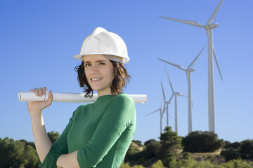 Female Engineer Windmills