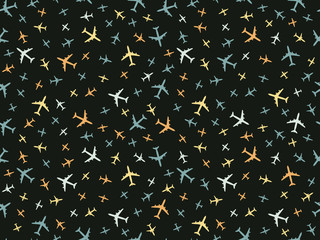 Color airplanes pattern