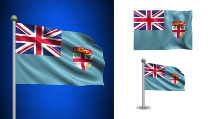 Fiji flag - with Alpha channel, seamless loop!