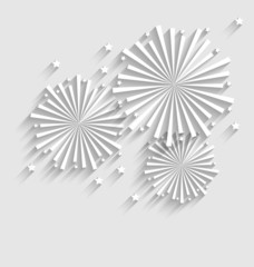 Firework for Holiday Celebration Events, Flat Style Long Shadow