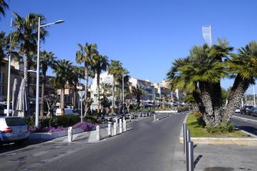 Bandol main street, France