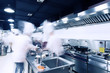 modern hotel kitchen and busy chefs. - 81769229