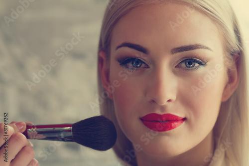 Obraz na Szkle makeup