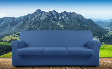 divano vacanze montagna relax