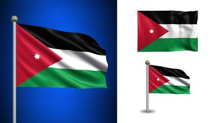 Jordan flag - with Alpha channel, seamless loop!