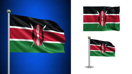 Kenya flag - with Alpha channel, seamless loop!
