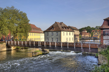 Bamberg and Regnitz river, Germany